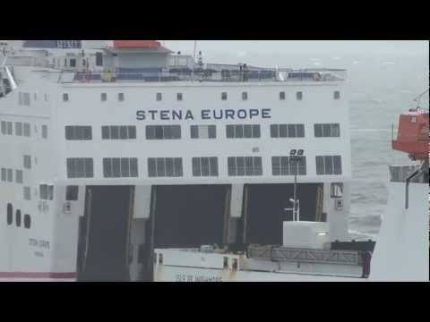 Stena Line And Irish Ferries In Stormy Weather