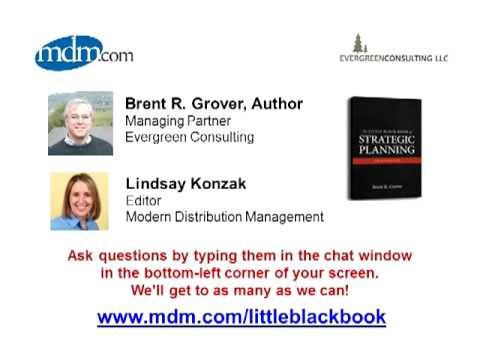 Behind the Little Black Book of Strategic Planning for Distributors: Ask  the Author Brent Grover