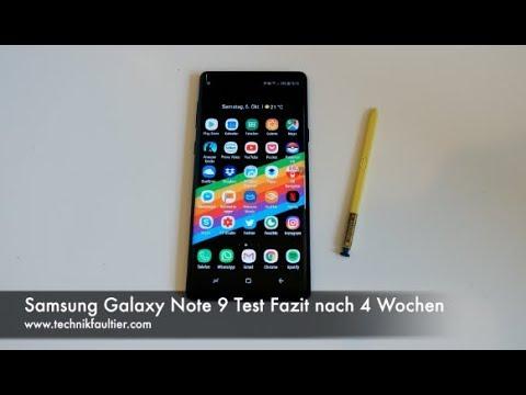 Samsung Galaxy Note 9 Test Fazit nach 4 Wochen