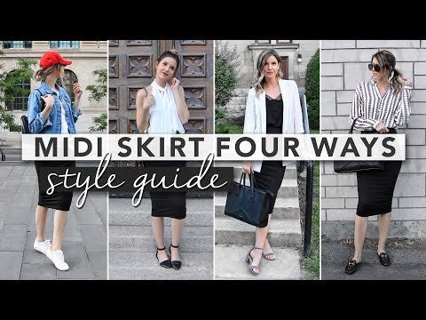 Style Guide: Midi Skirts Styled Four Ways | By Erin Elizabeth
