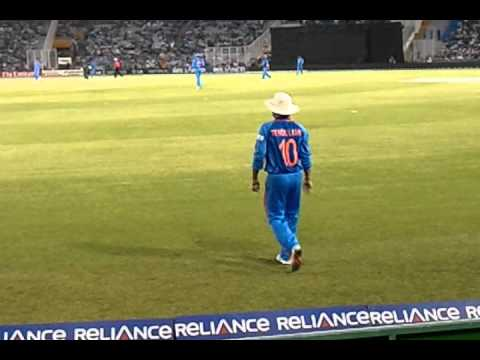 Sachin Tendulkar on Boundry line World Cup 2011 IND vs PAK