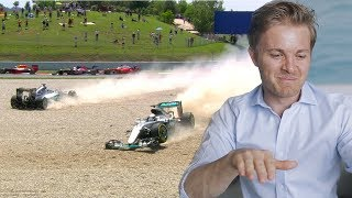 SPANISH GP F1 CRASH WITH LEWIS HAMILTON EXPLAINED   NICO ROSBERG   UNCUT