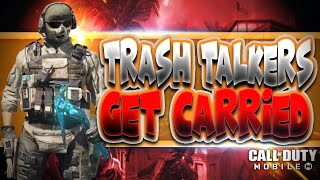 Trash Talking Team Gets Carried With Only a KNIFE (*New* Hard Point Game-Mode) | Call of Duty Mobile