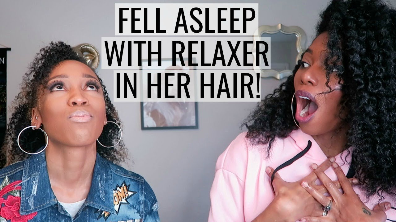 Andrea Berg Oops she fell asleep with relaxer in her hair | interview with so so def's  dondria
