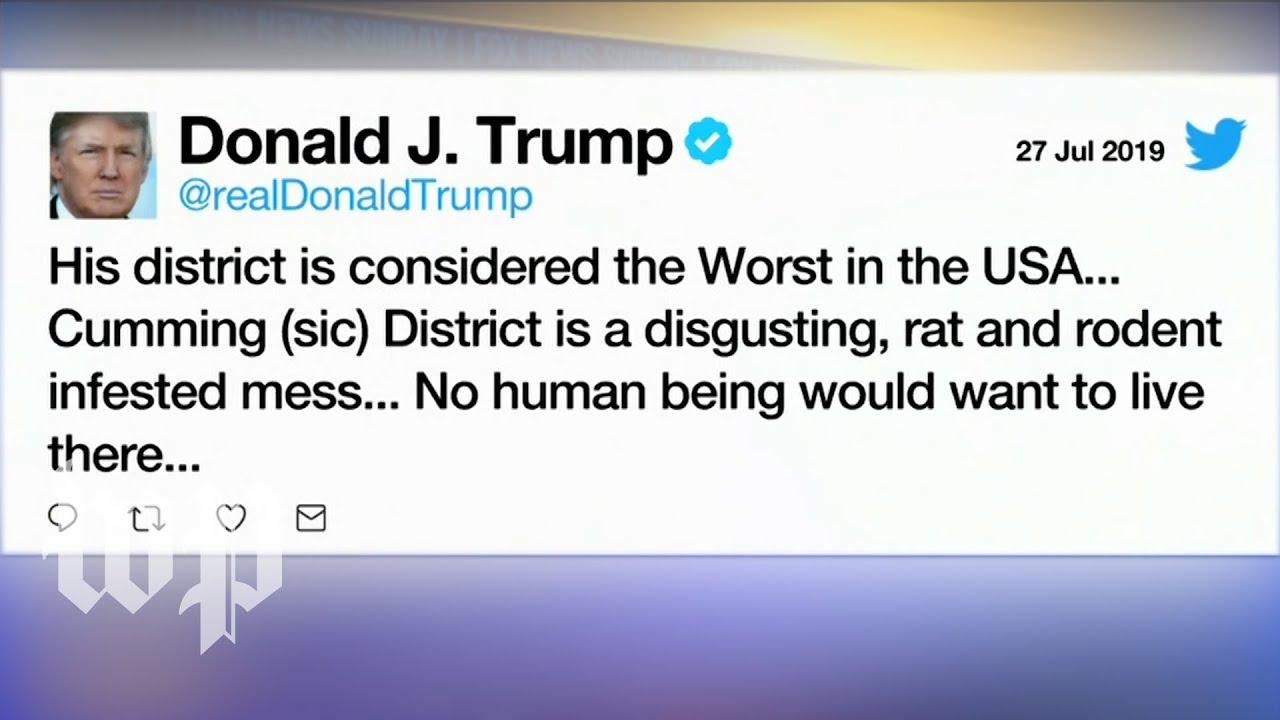 Image result for trump elijah cummings tweet  rat infested