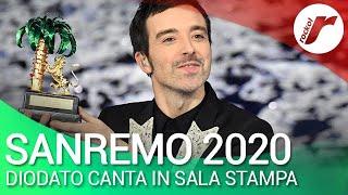 Sanremo 2020, Diodato canta in Sala Stampa