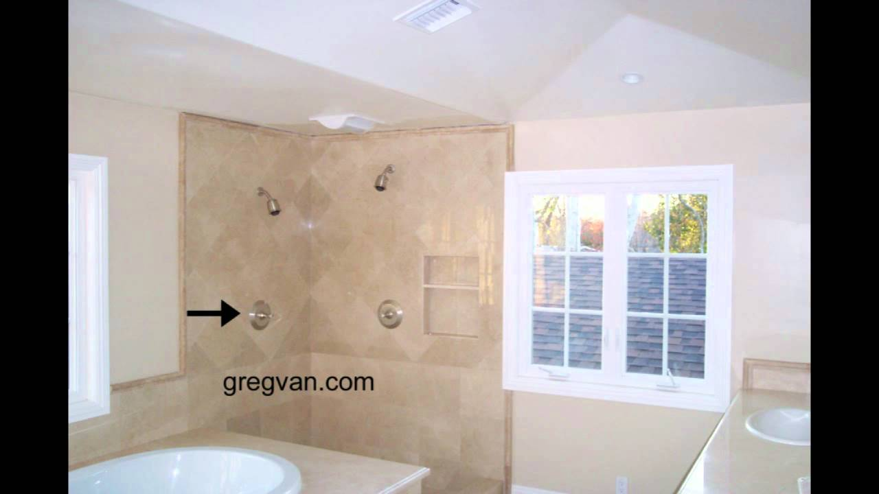 How To Locate A Shower Head For Tall People Bathroom Remodeling And Design Youtube