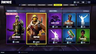RAPTOR, VENTURION AND VENTURA SKINS ARE BACK IN FORTNITE ITEM SHOP