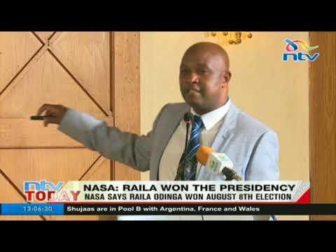 NASA says Raila Odinga won August 8th election