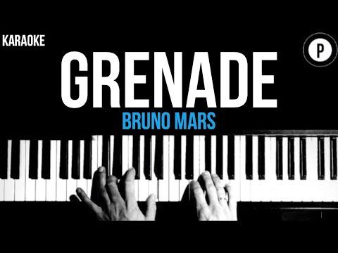 Bruno Mars - Grenade Karaoke SLOWER Acoustic Piano Instrumental Cover