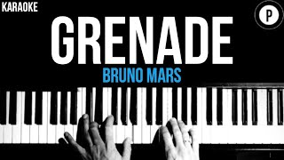 Cover images Bruno Mars - Grenade Karaoke SLOWER Acoustic Piano Instrumental Cover Lyrics