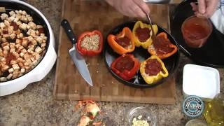 Nuwave Oven - How to Prepare Stuffed Peppers with Tofu