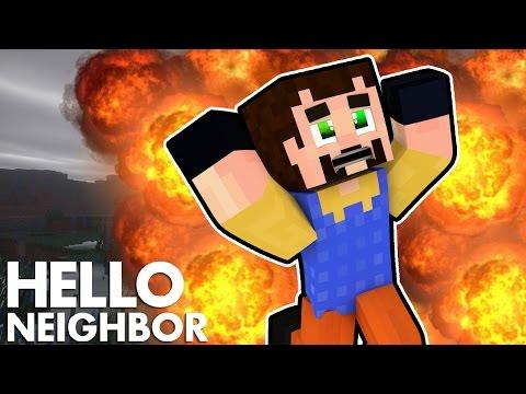Minecraft Hello Neighbor - Blowing Up The Neighbors House (Minecraft roleplay)