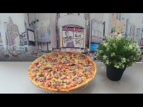 Pizzanin hazirlanmasi-Рецепт классической пиццы