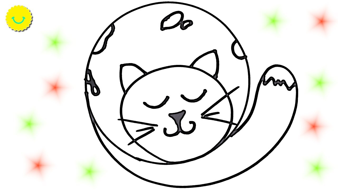 Learn Forms Drawing ANIMALS with circle Coloring pages for Children