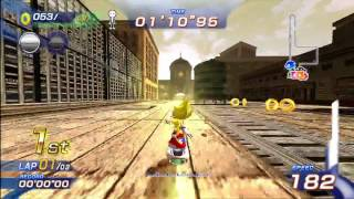 Sonic Free Riders: Metropolis Speedway (Expert / Free Race) {Super Sonic} [1080 HD]