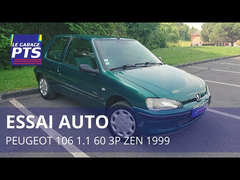 TEST - PEUGEOT 106 1.1 60 3P ZEN 1999 - FRANCE
