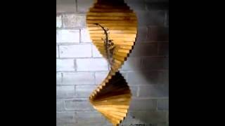 Engraved Wood Wind Spinner