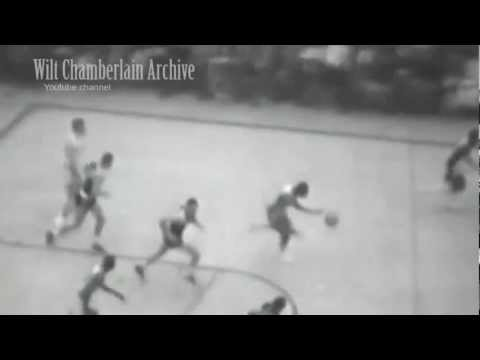 Bill Russell jumps OVER a guy from near the FT Line - INSANE speed and hang time!