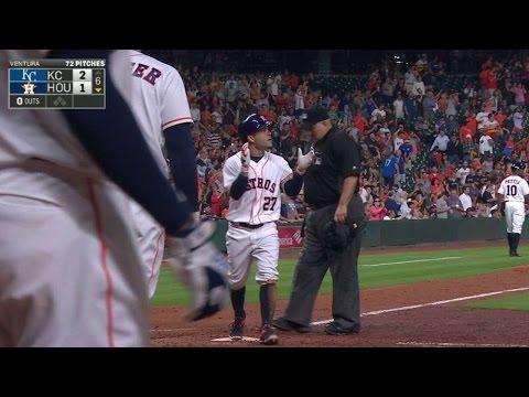 KC@HOU: Altuve launches a home run to left