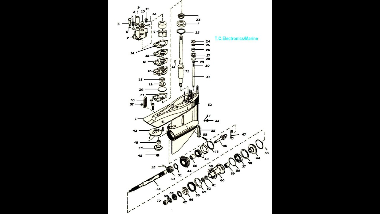 Mercruiser Alpha 1 parts drawings  YouTube