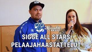Sigge All Stars pelaajahaastattelut 28.4.2019