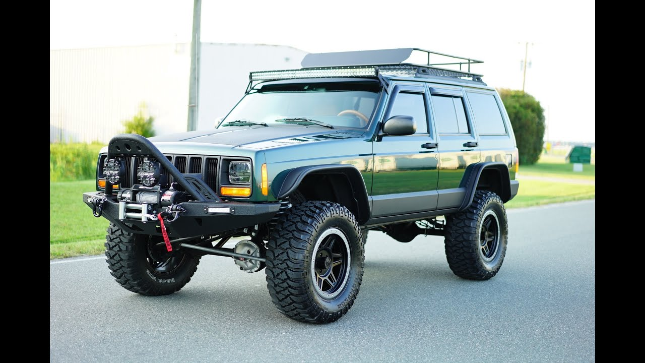 Cherokee Xj For Sale >> Davis AutoSports Custom and Lifted Jeep Cherokee Sport XJ Stage 4+ For Sale - YouTube