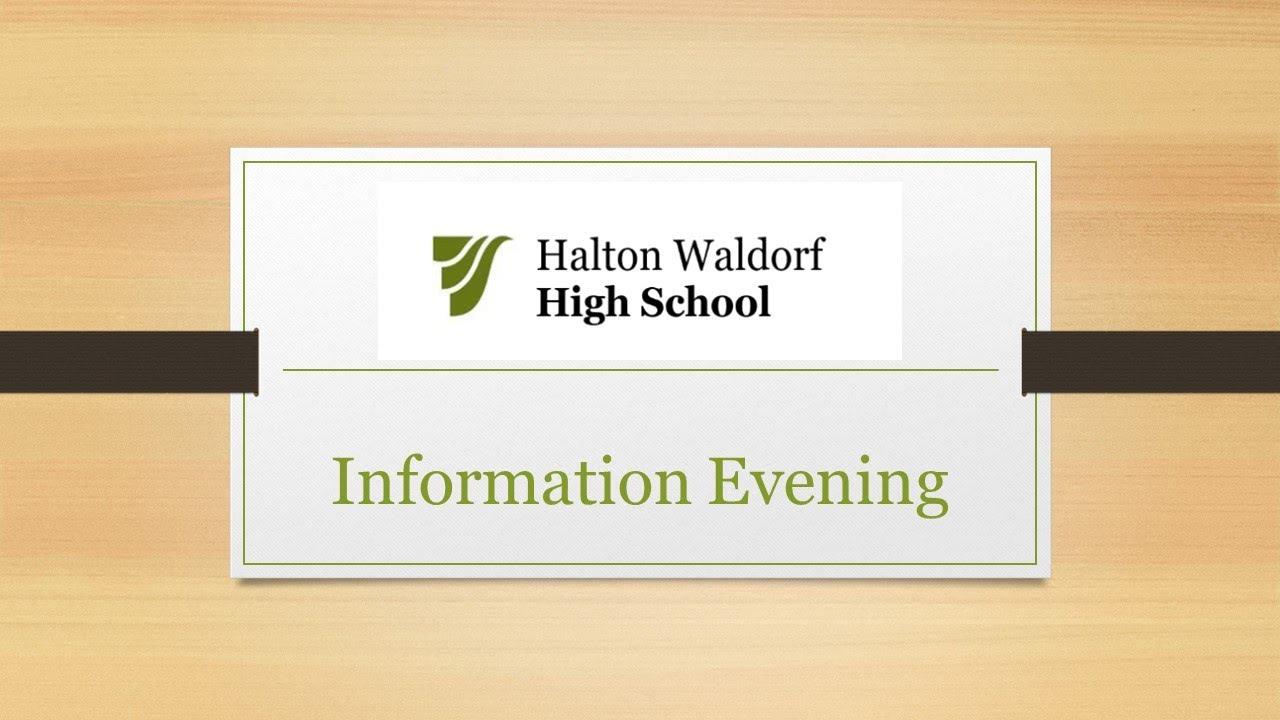 60 Minutes Q&A ~ Halton Waldorf High School