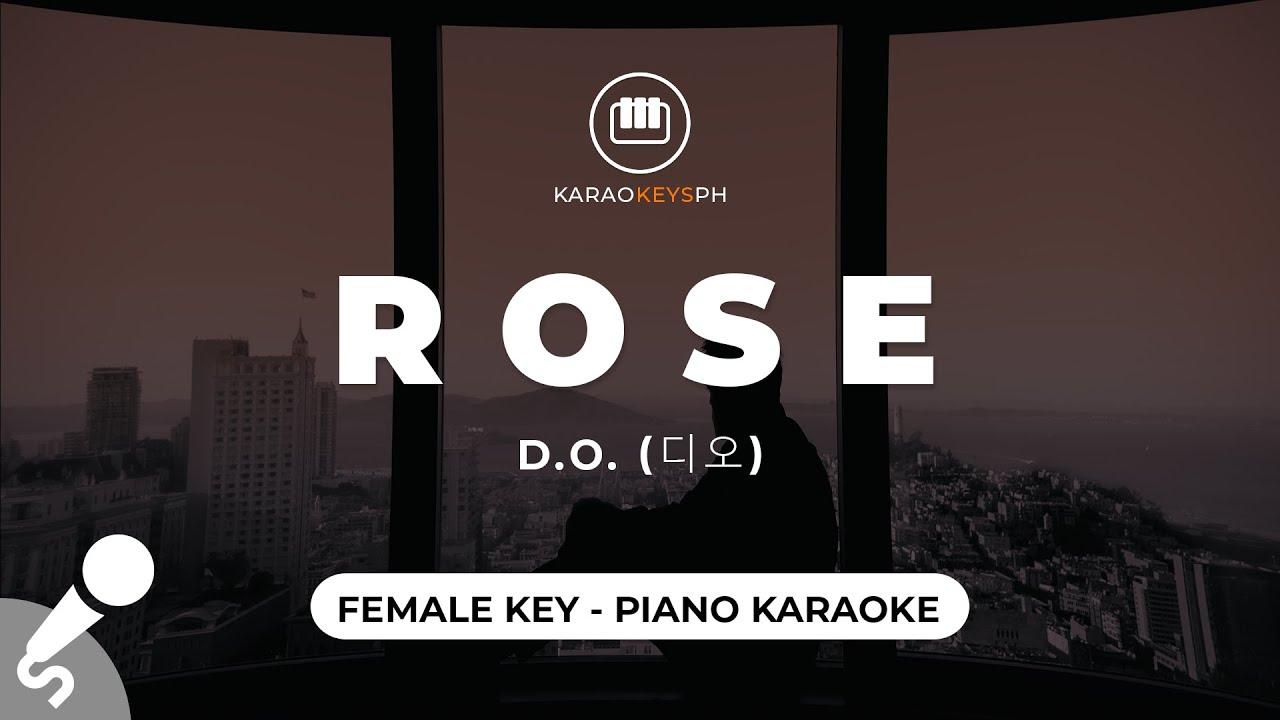 Rose [English Ver.] - D.O. (디오) (Female Key - Piano Karaoke)