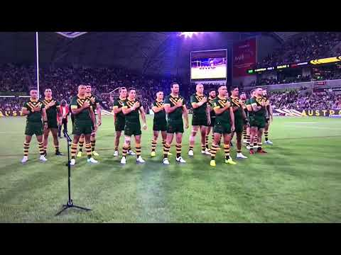 Australia Vs England Rugby League October 2017 War Dance Kangaroos (Partly Recorded)