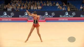 Carolina RODRIGUEZ (ESP) 2015 Rhythmic Worlds Stuttgart - Qualifications Clubs