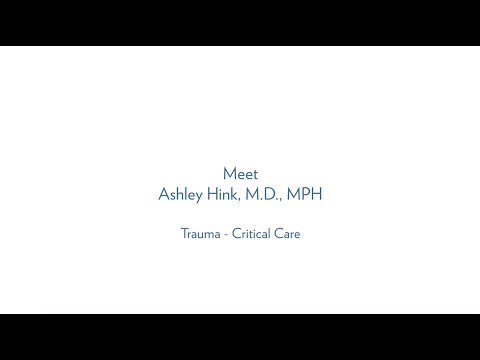 Ashley Hink, M.D., MPH  Critical Care - Trauma Surgery MUSC Health thumbnail