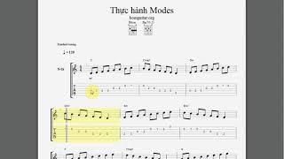 Thực hành Scale Modes Guitar - Học đàn guitar fingerstyle cơ bản