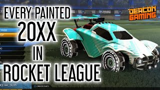 EVERY PAINTED 20XX ROCKET LEAGUE