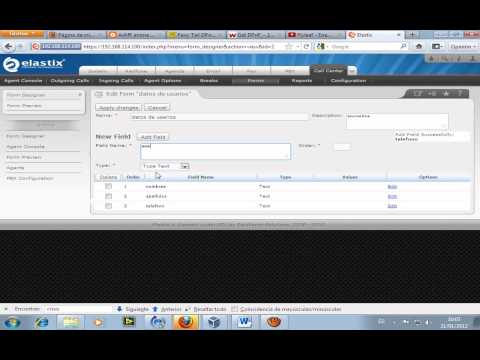 Configuración Callcenter Elastix