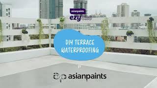 Asian Paints ezyCR8 Terrace Waterproofing, DIY Coating for Terrace Waterproofing