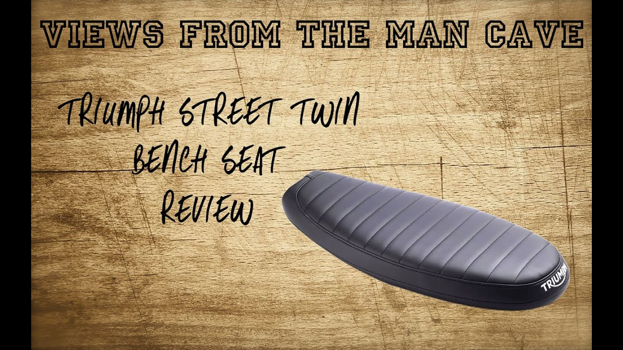 Man Cave Review : Triumph street twin bench seat review youtube