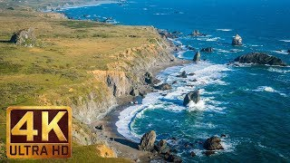 New Version 1.5 Hours - 4K Beach Relax Video with Ocean Wave Sounds   Sonoma Coast State Park