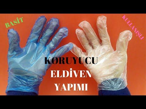 Evde KORUYUCU ELDİVEN yapımı | Tek kullanımlık hijyen eldiveni | hand gloves making #EvdeKal