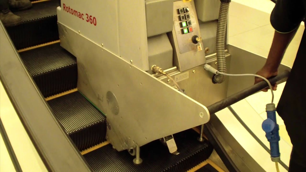 rotomac escalator cleaning machine