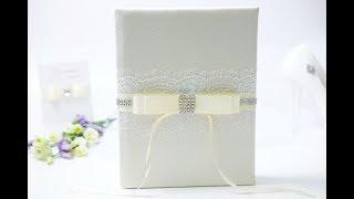 Декор книги для пожеланий на свадьбу своими руками, мастер-класс