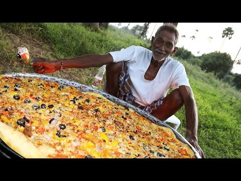 Pizza | Chicken Pizza | Chicken Pizza Cooking by our grandpa for 100 Orphan kids