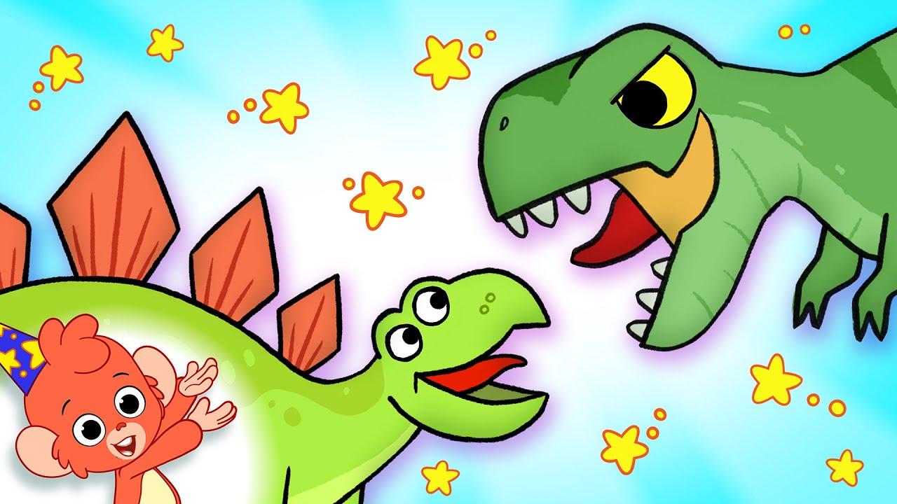 Learn Dinosaurs for Kids | T-Rex Stegosaurus Playing Dinosaur Cartoon video  | Club Baboo