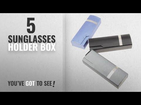 top-10-sunglasses-holder-box-[2018]:-generic-foldable-metal-pu-reading-glasses-box-holder