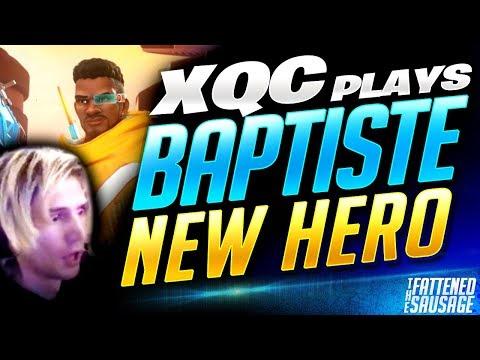 "XQC Plays NEW HERO ""Baptiste""! ""SO BROKEN!""   Overwatch thumbnail"