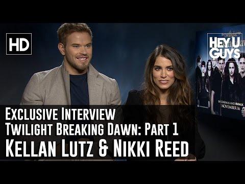 Nikki Reed and Kellan Lutz Exclusive Interview - Twilight Breaking Dawn Part 2