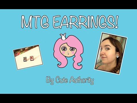 DIY Magic The Gathering Card Earrings