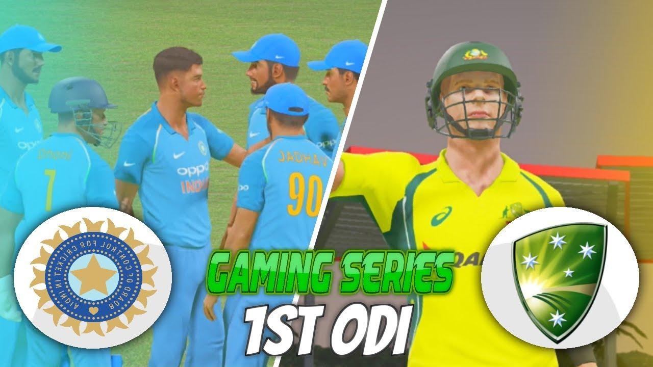 AUSTRALIA TOUR INDIA 2017 1ST ODI - DON BRADMAN CRICKET 17 (GAMING SERIES)