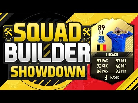 FIFA 17 SQUAD BUILDER SHOWDOWN!!! 89 RATED FOURTH INFORM LUKAKU!!! 89 Rated Romelu Lukaku Squad Duel