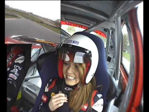 BTCC in car- Aron Smith and his girlfriend Lauren around Brands Hatch Indy